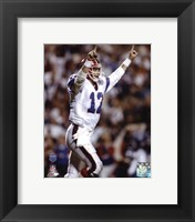 Framed Jim Kelly Super - Bowl XXV 1991 Action