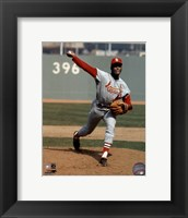 Framed Bob Gibson - Pitching Action Cardinals