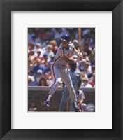 Framed Darryl Strawberry -  1989 Batting Action
