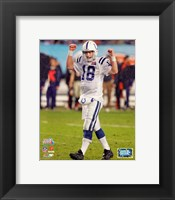 Framed Peyton Manning SuperBowl XLI (#10)
