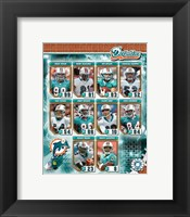 Framed 2006 - Dolphins Team Composite