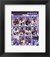 Framed 2006 - Ravens Team Composite