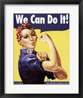 Framed We Can Do It - Rosie The Riveter
