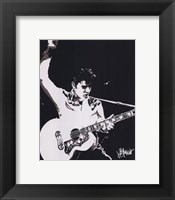 Framed Elvis - Guitar (postercard)