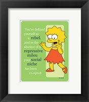 Framed Simpsons - Lisa Rebel (postercard)