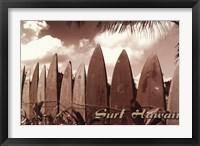 Surf Hawaii Framed Print