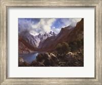 Framed Alpine Lake