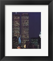 Framed Wtc With Statue Of Liberty