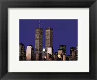 Framed Wtc Skyline