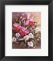 Framed Hummingbirds With Lilies
