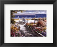 Framed Path With Beach Chairs