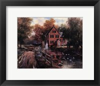 Framed Red Covered Bridge