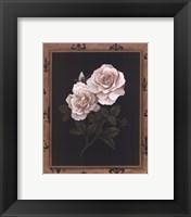 Framed Rose Fleur De Lis