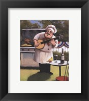 Framed Barbecue Chef - Banjo