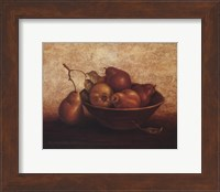 Framed Pears In Bowl