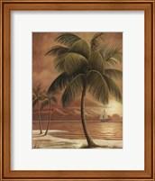 Framed Island Palm I