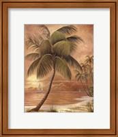 Framed Island Palm III