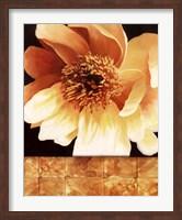 Framed Magnolia Gold Tile I