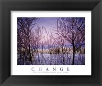 Framed Change - Snowy Trees