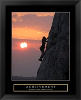 Framed Achievement - Climber