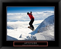 Framed Attitude - Snow Boarder