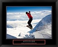 Framed Attitude - Snow Boarder