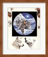 Framed Moonlit Warrior
