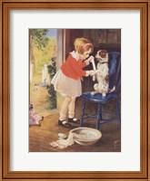 Framed Playing Nurse - Sick Dog