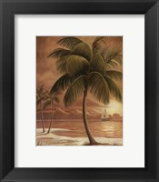 Framed Island Palm I