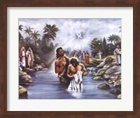 Framed White Baptism
