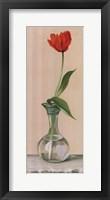 Framed Red Flower In Vase
