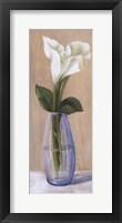 Framed White Flower In Purple Vase
