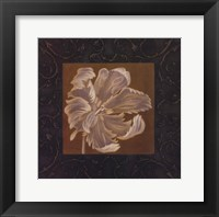 Framed Tan Flower