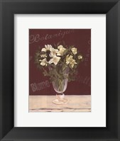 Framed White Flowers In Glass Vase