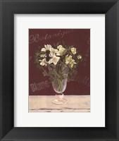 Framed White Flowers In Vase