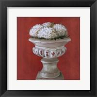 Framed White Flowers In Glass Pot