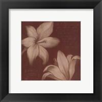 Framed Tan Flowers II