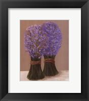 Framed Purple Flowers In String
