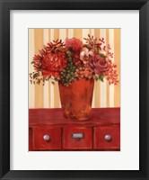 Framed Flowers In Vase On Dresser