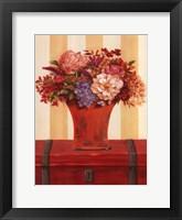 Framed Flowers In Vase On Trunk