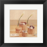 Framed Soaps Towels In Baskets