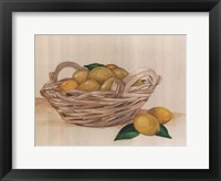 Framed Basket Of Lemons