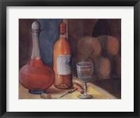 Framed Wine Bottle With Glass
