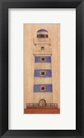Framed Lighthouse With Blue Fence