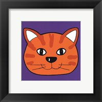 Framed Orange Cat