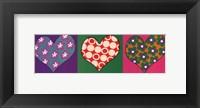 Framed Three Hearts