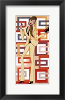 Framed Girl With Yellow Pant Suit (panel)