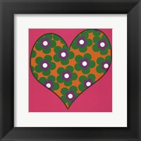 Framed Green Flowered Heart