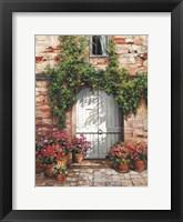 Framed Wooden Doorway, Siena