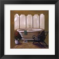 Framed Corromandel Bath I